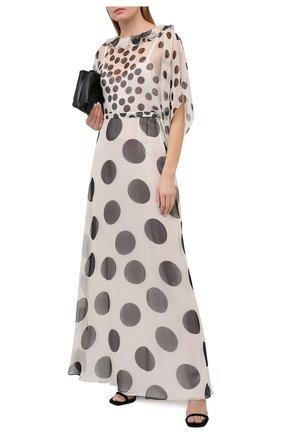 Женское шелковое платье VALENTINO черно-белого цвета, арт. VB3VDBL065P | Фото 2