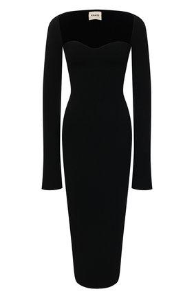 Женское платье из вискозы KHAITE черного цвета, арт. 8300400/BETH | Фото 1