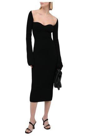 Женское платье из вискозы KHAITE черного цвета, арт. 8300400/BETH | Фото 2