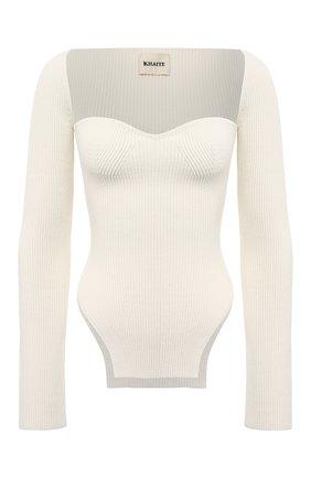 Женский пуловер из вискозы KHAITE кремвого цвета, арт. 8310400/MADDY | Фото 1