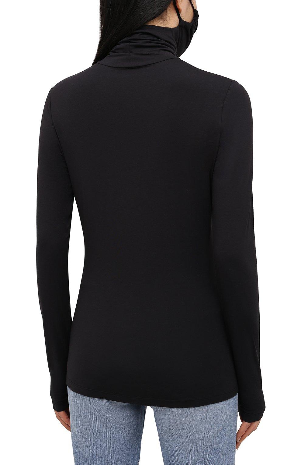 Женская хлопковая водолазка PROENZA SCHOULER WHITE LABEL черного цвета, арт. WL2114250-JC141 | Фото 4
