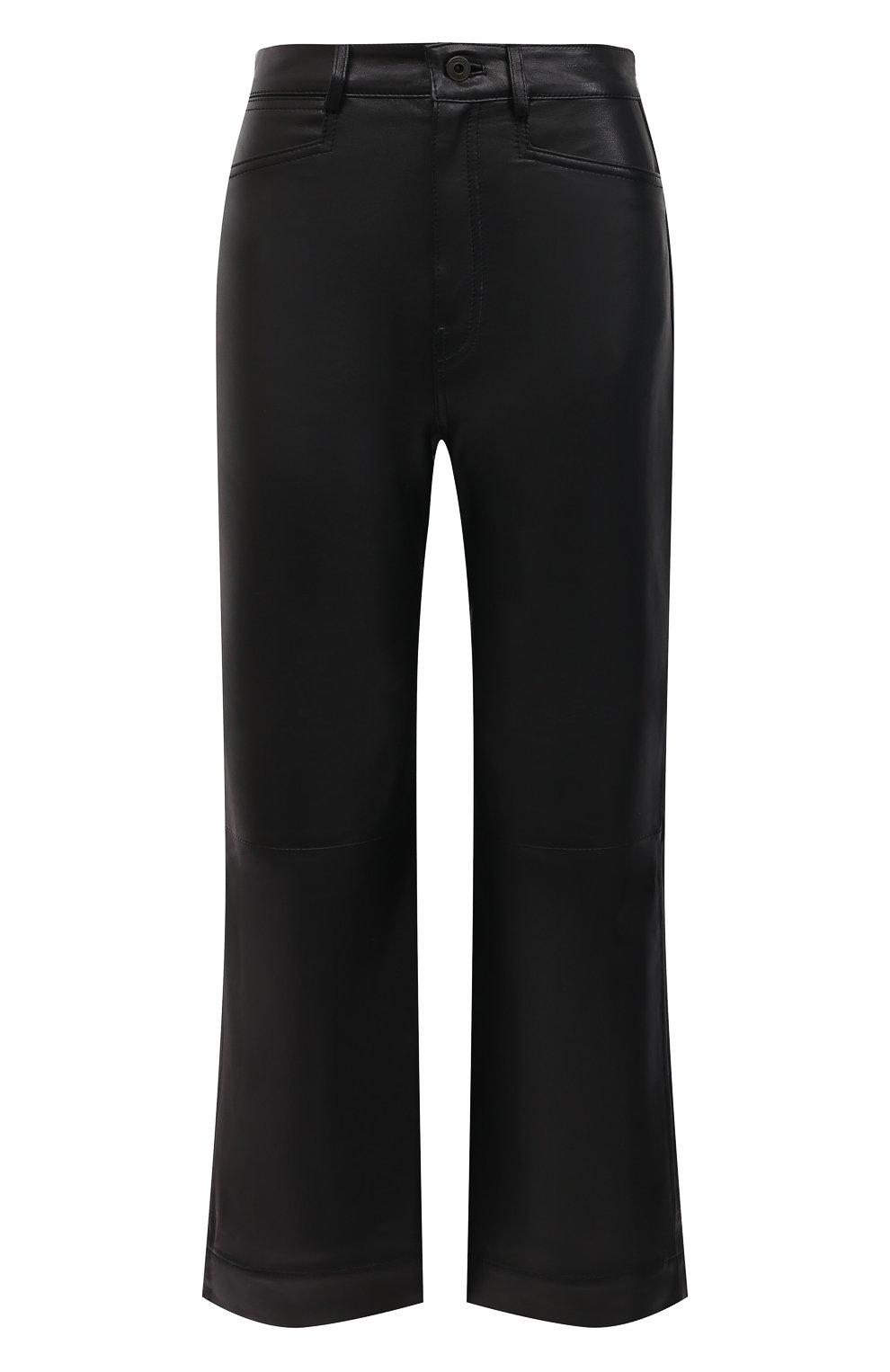 Женские кожаные брюки PROENZA SCHOULER WHITE LABEL черного цвета, арт. WL2116070-LR184 | Фото 1