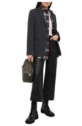 Женские кожаные брюки PROENZA SCHOULER WHITE LABEL черного цвета, арт. WL2116070-LR184 | Фото 2