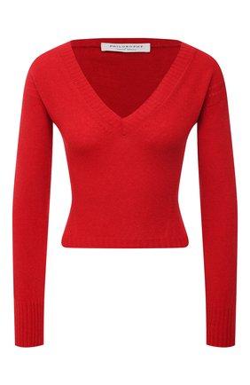 Женский кашемировый пуловер PHILOSOPHY DI LORENZO SERAFINI красного цвета, арт. A0912/702 | Фото 1