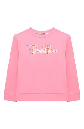 Детский хлопковый свитшот EMILIO PUCCI розового цвета, арт. 9O4010 | Фото 1
