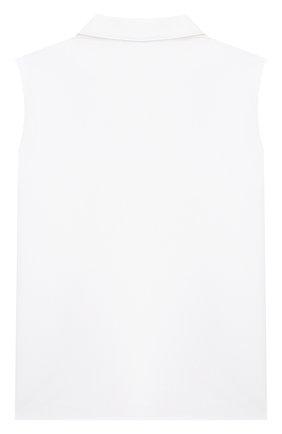 Детское хлопковая блузка SIMONETTA белого цвета, арт. 1O5082 | Фото 2