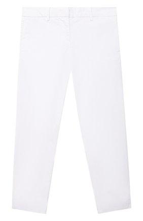 Детские хлопковые брюки SIMONETTA белого цвета, арт. 1O6031 | Фото 1