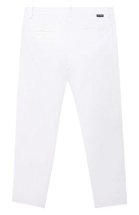 Детские хлопковые брюки SIMONETTA белого цвета, арт. 1O6031 | Фото 2