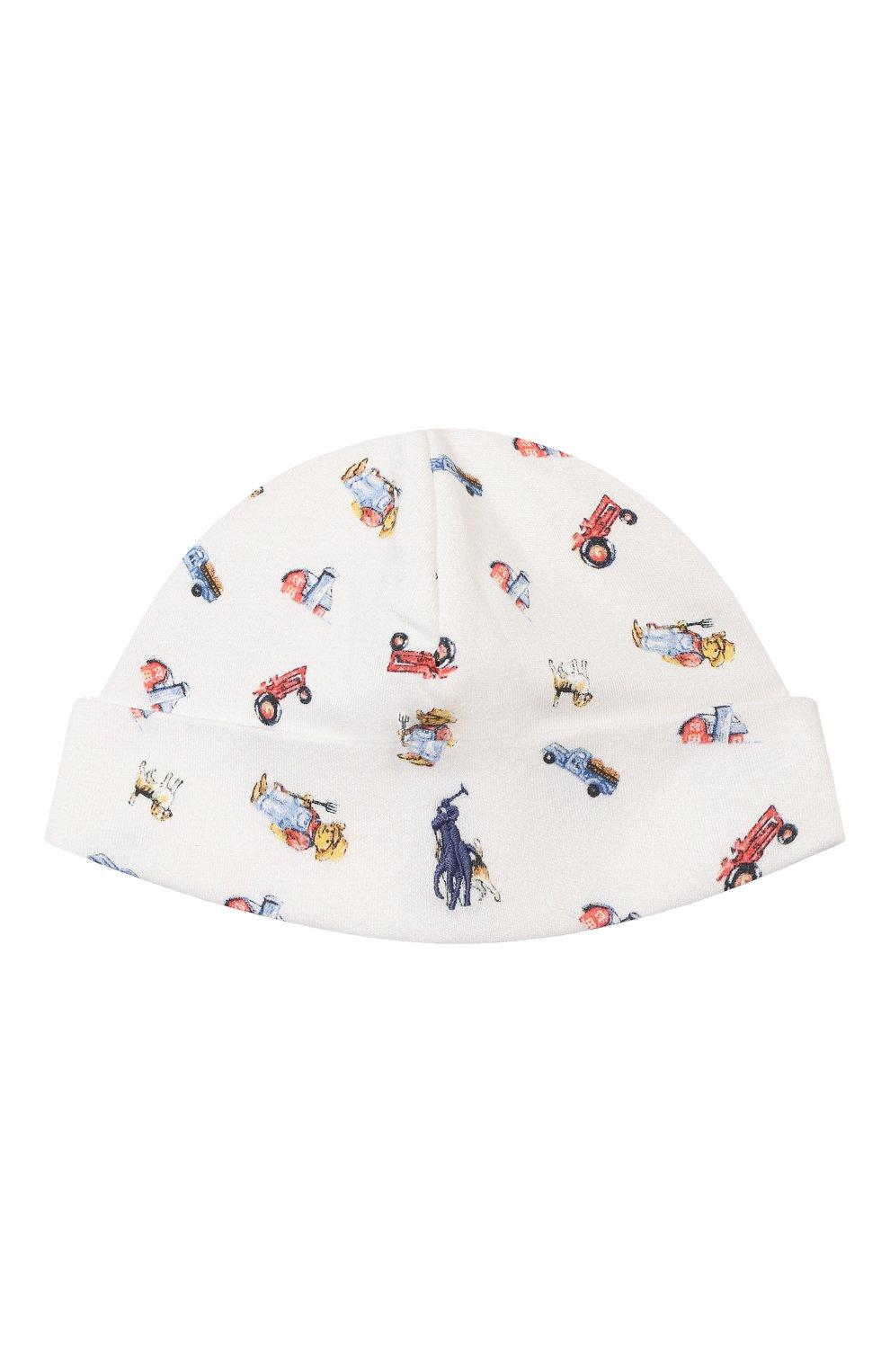 Детского хлопковая шапка RALPH LAUREN разноцветного цвета, арт. 320799092   Фото 1 (Материал: Текстиль, Хлопок)