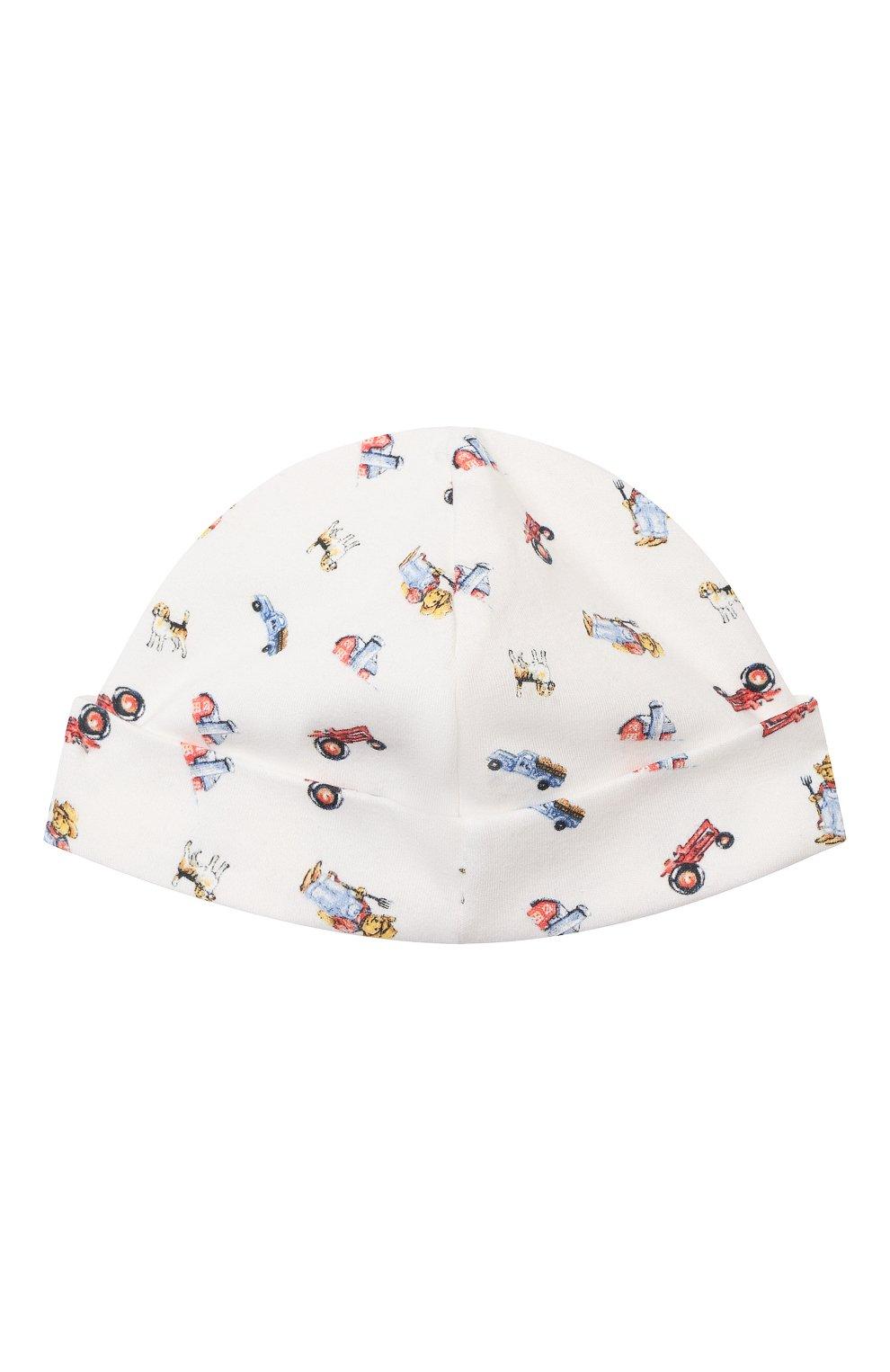 Детского хлопковая шапка RALPH LAUREN разноцветного цвета, арт. 320799092   Фото 2 (Материал: Текстиль, Хлопок)