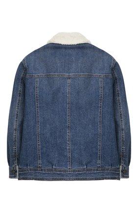 Детского утепленная джинсовая куртка DOLCE & GABBANA синего цвета, арт. L42B07/LD908/8-14 | Фото 2
