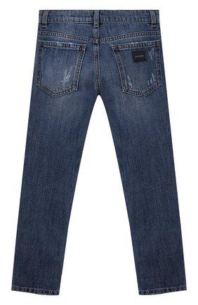 Детские джинсы DOLCE & GABBANA синего цвета, арт. L42F03/LD944/8-14   Фото 2