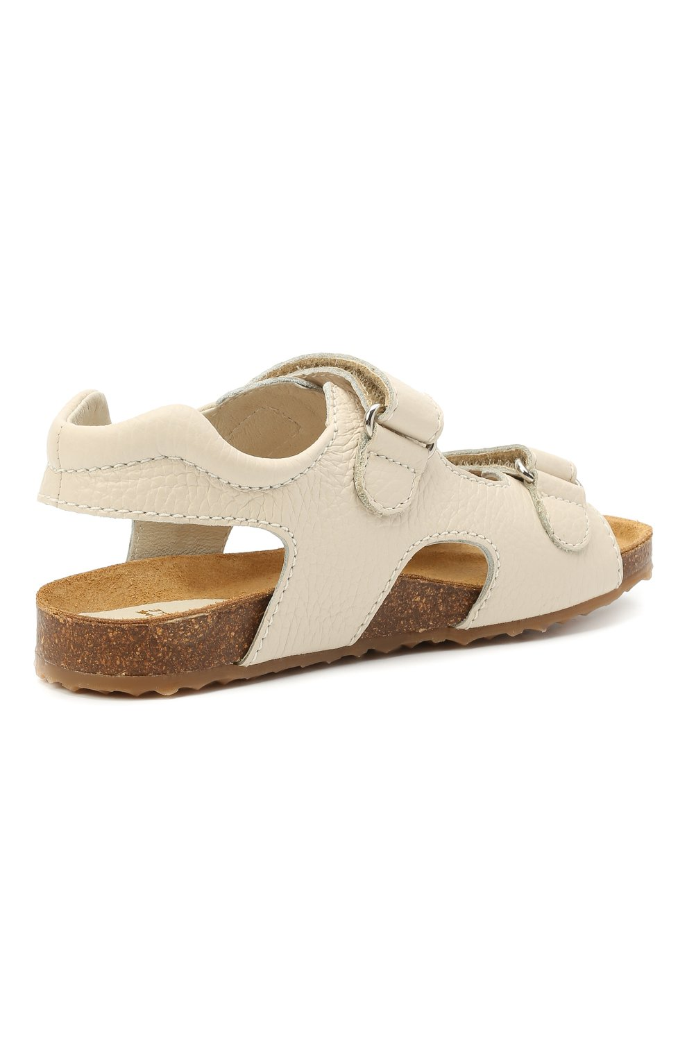 Детские кожаные сандалии IL GUFO бежевого цвета, арт. G550/VITELL0 CERV0/35-42   Фото 3 (Материал внутренний: Натуральная кожа)