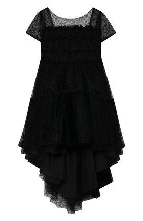 Детское платье ALETTA черного цвета, арт. AL21575/4A-8A | Фото 1