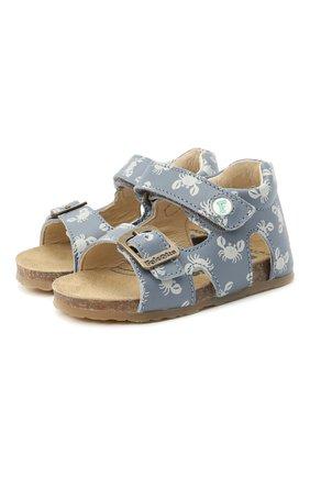 Детские кожаные сандалии FALCOTTO синего цвета, арт. 0011500737/37 | Фото 1