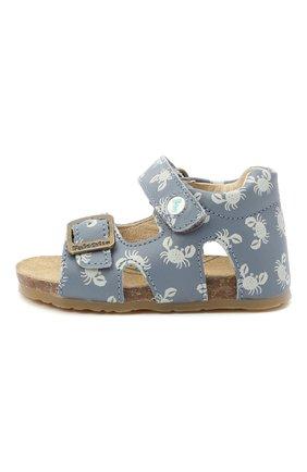 Детские кожаные сандалии FALCOTTO синего цвета, арт. 0011500737/37 | Фото 2