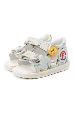 Детские текстильные сандалии FALCOTTO разноцветного цвета, арт. 0011500824/05 | Фото 1