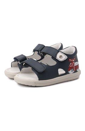 Детские кожаные сандалии FALCOTTO синего цвета, арт. 0011500898/01 | Фото 1