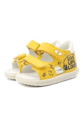 Детские кожаные сандалии FALCOTTO белого цвета, арт. 0011500899/01 | Фото 1