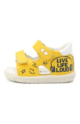 Детские кожаные сандалии FALCOTTO белого цвета, арт. 0011500899/01 | Фото 2