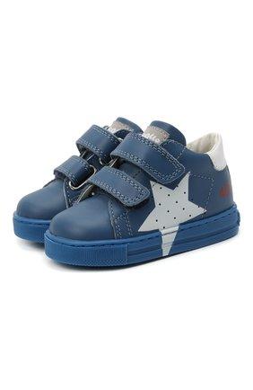 Детские кожаные кеды FALCOTTO синего цвета, арт. 0012015346/01 | Фото 1