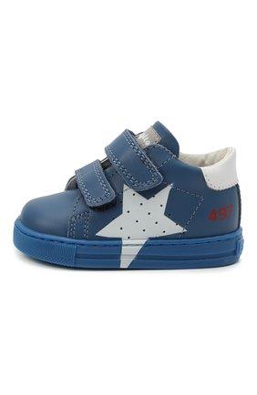 Детские кожаные кеды FALCOTTO синего цвета, арт. 0012015346/01 | Фото 2