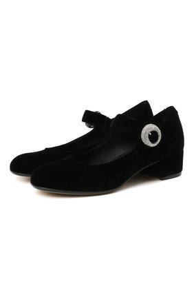Детские кожаные туфли MISSOURI черного цвета, арт. 78067 A/31-34   Фото 1