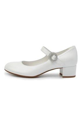Детские кожаные туфли MISSOURI белого цвета, арт. 78067/27-30   Фото 2