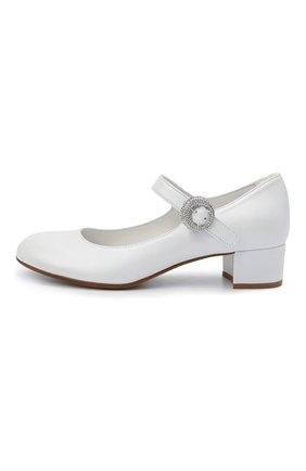 Детские кожаные туфли MISSOURI белого цвета, арт. 78067/31-34   Фото 2