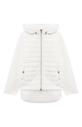 Детская стеганая куртка HERNO белого цвета, арт. GI0045G/20045/4A-8A   Фото 1
