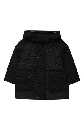 Детского стеганая куртка BURBERRY черного цвета, арт. 8036683 | Фото 1