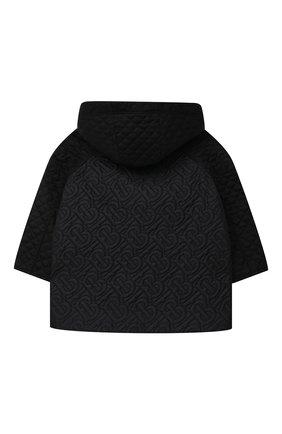 Детского стеганая куртка BURBERRY черного цвета, арт. 8036683 | Фото 2