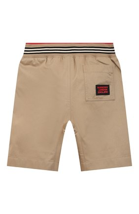 Детские хлопковые шорты BURBERRY бежевого цвета, арт. 8036431 | Фото 2