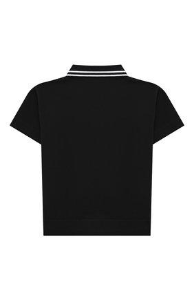 Детский хлопковое поло BURBERRY черного цвета, арт. 8036420 | Фото 2