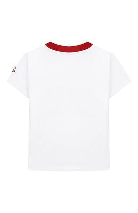 Детская хлопковая футболка MONCLER белого цвета, арт. G1-954-8C745-10-83907/4-6A | Фото 2