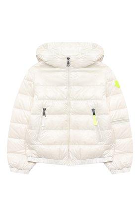 Детского пуховая куртка MONCLER белого цвета, арт. G1-954-1A50K-10-539ST/4-6A | Фото 1