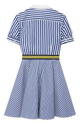 Детское хлопковое платье POLO RALPH LAUREN голубого цвета, арт. 313833014 | Фото 2