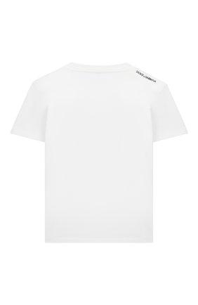 Детская хлопковая футболка DOLCE & GABBANA серого цвета, арт. L4JTBL/G7YFK/2-6 | Фото 2