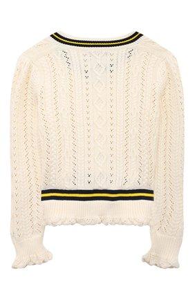 Детский хлопковый пуловер POLO RALPH LAUREN бежевого цвета, арт. 313834982 | Фото 2