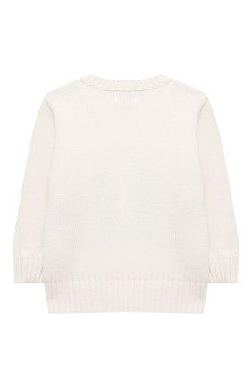 Детский хлопковый пуловер POLO RALPH LAUREN бежевого цвета, арт. 320838301 | Фото 2