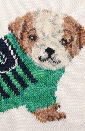Детский хлопковый пуловер POLO RALPH LAUREN бежевого цвета, арт. 320838301 | Фото 3