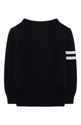 Детский хлопковый пуловер POLO RALPH LAUREN синего цвета, арт. 321834677 | Фото 2