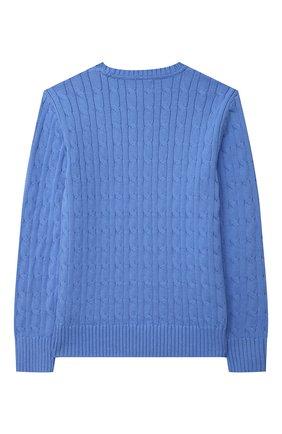 Детский хлопковый пуловер POLO RALPH LAUREN голубого цвета, арт. 323702674 | Фото 2