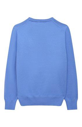 Детский хлопковый пуловер POLO RALPH LAUREN синего цвета, арт. 323799887 | Фото 2