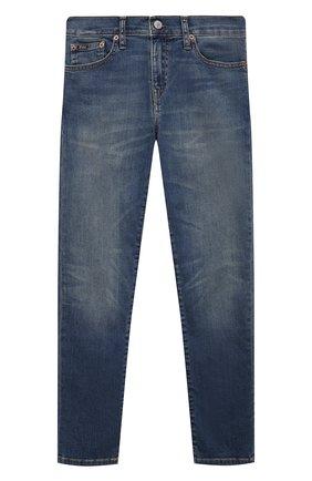 Детские джинсы POLO RALPH LAUREN синего цвета, арт. 323750426 | Фото 1