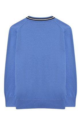 Детский хлопковый кардиган POLO RALPH LAUREN голубого цвета, арт. 322799888   Фото 2