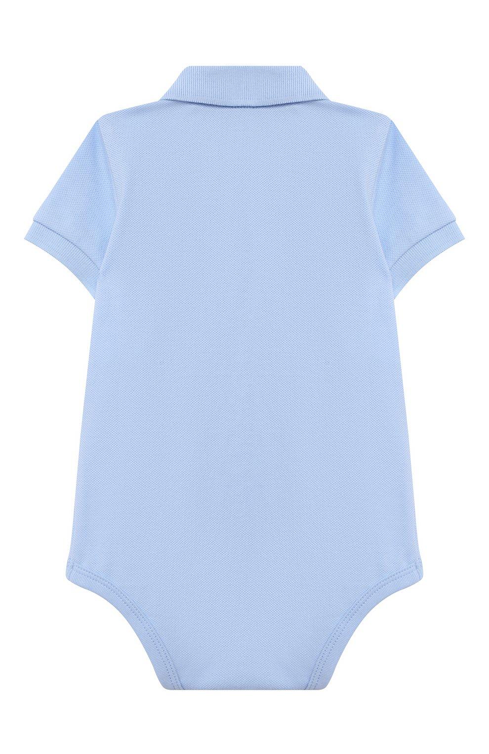 Детское хлопковое боди POLO RALPH LAUREN голубого цвета, арт. 320812073 | Фото 2