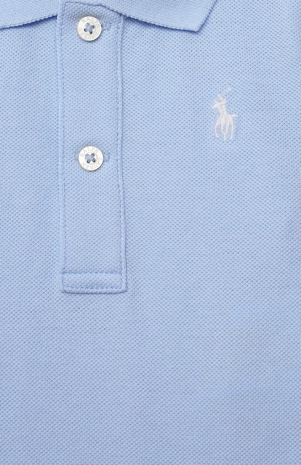 Детское хлопковое боди POLO RALPH LAUREN голубого цвета, арт. 320812073 | Фото 3