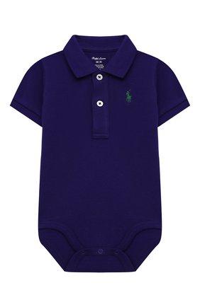 Детское хлопковое боди POLO RALPH LAUREN фиолетового цвета, арт. 320812073 | Фото 1