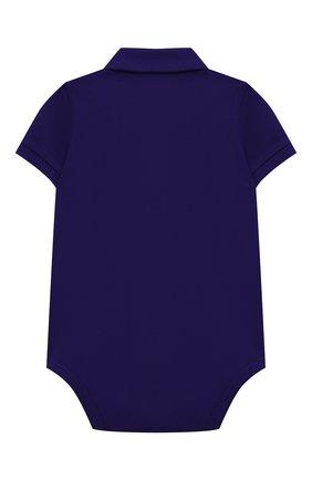 Детское хлопковое боди POLO RALPH LAUREN фиолетового цвета, арт. 320812073 | Фото 2